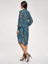Платье шифоновое с асимметричным низом oodji #SECTION_NAME# (бирюзовый), 11913032/38375/7355E - вид 3