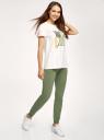 Брюки трикотажные спортивные oodji для женщины (зеленый), 16700030-5B/47648N/6900N