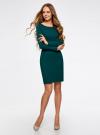 Платье трикотажное облегающего силуэта oodji #SECTION_NAME# (зеленый), 14001183B/46148/6E01N - вид 2