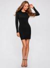 Платье вязаное базовое oodji для женщины (черный), 73912217-2B/33506/2900N - вид 2