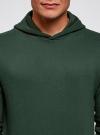 Худи базовая с карманом oodji #SECTION_NAME# (зеленый), 5B111003M/44312N/6E00N - вид 4