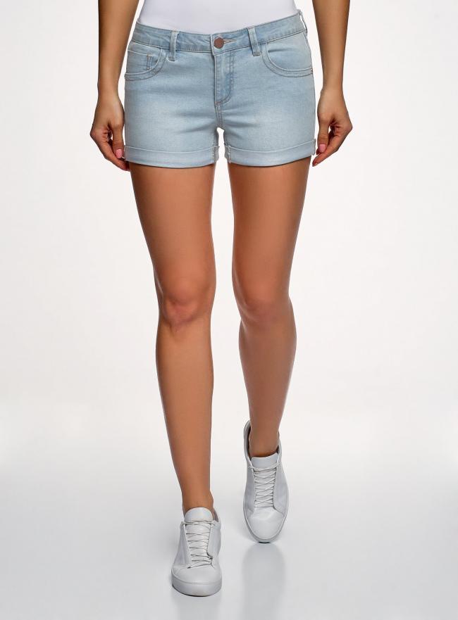 Шорты джинсовые базовые oodji #SECTION_NAME# (синий), 12807025-3B/46253/7000W
