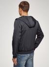 Куртка на молнии с капюшоном oodji #SECTION_NAME# (синий), 1L512019M/49014N/7900N - вид 3