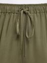 Брюки вискозные на завязках oodji для женщины (зеленый), 13F11001B/26346/6801N