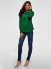 Блузка прямого силуэта с нагрудным карманом oodji #SECTION_NAME# (зеленый), 11411134B/46123/6E00N - вид 6