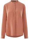 Блузка вискозная А-образного силуэта oodji #SECTION_NAME# (розовый), 21411113B/42540/4B02N