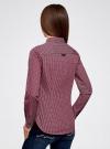 Рубашка принтованная хлопковая oodji #SECTION_NAME# (красный), 11406019-1/38544/7949G - вид 3