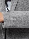 Кардиган с капюшоном без застежки oodji для женщины (серый), 63207187-1/45716/2029M - вид 5