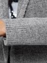 Кардиган с капюшоном без застежки oodji #SECTION_NAME# (серый), 63207187-1/45716/2029M - вид 5