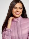 Куртка стеганая с воротником-стойкой oodji для женщины (фиолетовый), 10203038-5B/47020/8000N - вид 4