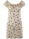 Платье хлопковое со сборками на груди oodji #SECTION_NAME# (слоновая кость), 11902047-2B/14885/3070F