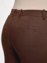 Брюки льняные прямые oodji #SECTION_NAME# (коричневый), 21701092/16009/3900N - вид 5