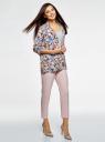 Жакет без застежки с накладными карманами oodji #SECTION_NAME# (разноцветный), 21204047/42526/1270F - вид 6