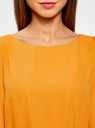 Платье из шифона с ремнем oodji #SECTION_NAME# (желтый), 11900150-5B/32823/5200N - вид 4