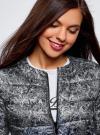 Куртка стеганая с круглым вырезом oodji #SECTION_NAME# (черный), 10203072B/42257/2923L - вид 4