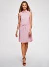 Платье хлопковое на кулиске oodji #SECTION_NAME# (розовый), 11901147-4B/45202/1045O - вид 2