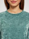 Джемпер трикотажный с круглым вырезом oodji #SECTION_NAME# (зеленый), 14808047/49529/6C00N - вид 4