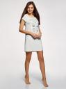 Платье домашнее с принтом oodji #SECTION_NAME# (белый), 59801006-21/46154/1260P - вид 6