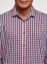 Рубашка в клетку с длинным рукавом oodji #SECTION_NAME# (разноцветный), 3B110028M/39767N/7945C - вид 4