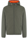 Куртка утепленная с капюшоном oodji #SECTION_NAME# (зеленый), 1L512022M/44334N/6600N
