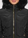 Куртка удлиненная с капюшоном oodji для женщины (черный), 20204047/45934/2901N - вид 4