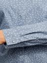 Рубашка джинсовая принтованная oodji #SECTION_NAME# (синий), 16A09003-3/47735/7912G - вид 5