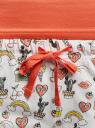 Пижама с шортами принтованная oodji #SECTION_NAME# (оранжевый), 56002187-6/47692/4329P - вид 5