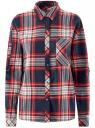 Рубашка в клетку с нагрудным карманом oodji #SECTION_NAME# (синий), 13L11013-1/48490/7912C
