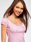 Платье хлопковое со сборками на груди oodji #SECTION_NAME# (розовый), 11902047-2B/14885/4010S - вид 4