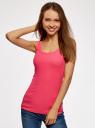 Майка базовая oodji для женщины (розовый), 14315001B/45307/4D00N