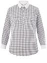 Рубашка хлопковая с нагрудными карманами oodji для женщины (серый), 13K03008/26357/1054G