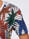 Футболка укороченная из ткани в полоску oodji для женщины (разноцветный), 15F01002/33520/1062F