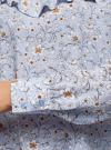 Блузка принтованная с воланами oodji #SECTION_NAME# (синий), 11400449-1/26346/7012F - вид 5