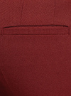 Брюки укороченные на эластичном поясе oodji #SECTION_NAME# (красный), 11706203-5B/14917/4900N - вид 5