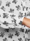 Блузка принтованная из шифона oodji #SECTION_NAME# (белый), 11400394-5/36215/1229F - вид 5
