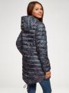 Куртка удлиненная с асимметричным низом oodji #SECTION_NAME# (черный), 10203056-2B/42257/2919F - вид 3