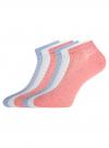 Комплект ажурных носков (6 пар) oodji #SECTION_NAME# (разноцветный), 57102702T6/48022/12 - вид 2