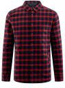 Рубашка утепленная на кнопках oodji #SECTION_NAME# (красный), 1L111030M/47458N/4579C