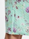 Юбка-карандаш из фактурной ткани oodji #SECTION_NAME# (бирюзовый), 14101088-1/42588/6580F - вид 5