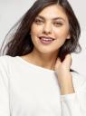 Джемпер свободного силуэта с цельнокроеным рукавом oodji для женщины (белый), 14208011/50539/1200N