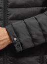 Куртка стеганая с капюшоном oodji для мужчины (черный), 1B112009M/25278N/2900N