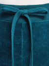 Брюки спортивные на завязках oodji для женщины (бирюзовый), 16701051B/47883/6C00N - вид 4