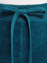 Брюки спортивные на завязках oodji для женщины (бирюзовый), 16701051B/47883/6C00N