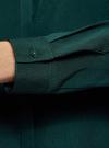 Блузка с декором на воротнике oodji #SECTION_NAME# (зеленый), 11403172-3/31427/6900N - вид 5