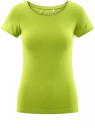 Футболка базовая приталенная oodji для женщины (зеленый), 14701005-7B/46147/6B00N