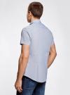 Рубашка приталенная с нагрудным карманом oodji #SECTION_NAME# (синий), 3L210047M/44425N/7810G - вид 3