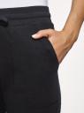 Брюки спортивные на завязках oodji для женщины (черный), 16701078/50008/2900N