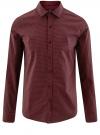 Рубашка принтованная с длинным рукавом oodji #SECTION_NAME# (красный), 3L310137M/19370N/4930G