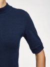 Платье трикотажное с воротником-стойкой oodji #SECTION_NAME# (синий), 14001229/47420/7900N - вид 5