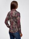 """Рубашка хлопковая с принтом """"пейсли"""" oodji #SECTION_NAME# (разноцветный), 21402212-1/45966/2966E - вид 3"""